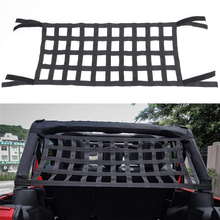 Car Accessories Car Hammock Bed Rest Top Cover Cargo Net Back Window For Jeep Wrangler JK YJ TJ JKU 2007-2018