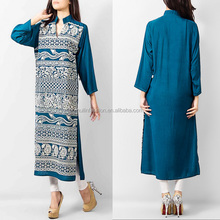 2014 summer fashion latest pakistani new style dresses in casual dress