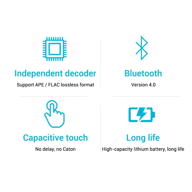 Mahdi M320 Hifi Lossless Music Bluetooth MP3 Player 1.8 TFT Screen 8GB Memory Multifunction MP3 Player Support FLAC ALAC Format (2)