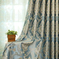 High grade jacquard insulted blackout curtain