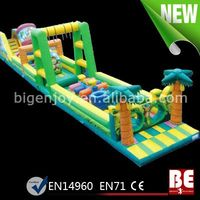 Long Outdoor Commercial Adult Inflatable Obstacle Course Playground