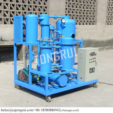 Black Used Hydraulic Oil Filtration Machine to New Oil