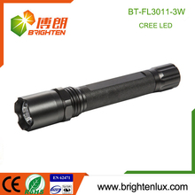 OEM Factory Supply 3watt Cree led Rechargeable Bright tactical strobe flashlight