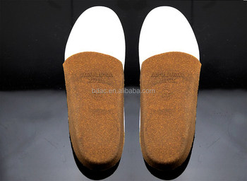 slight Arch Supports heel cup Comfort Cork Shoe Insoles