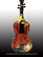 Customized Violin Shaped Glass Spirit Rum Bottle Factory Supplier