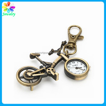 Antique Brass Creative Ride Bicycle Style Metal Pendant key chain keychain Key Ring Clock Watch bike keychain