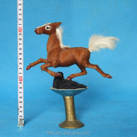 The horse stepped swallows Art crafts pure manual horse Plush toys