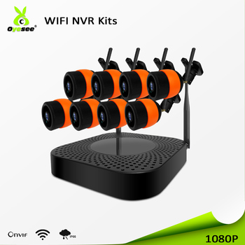 2018 Best price cctv 8ch h.264 wireless hidden 1080p ip camera p2p nvr kit manual ip66 IR vision night low illumination