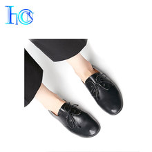 New design soft flat latest design ladies women casual leather shoes