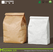 Wholesale custom high quality cheaper food packaging bag white and brown kraft paper bag