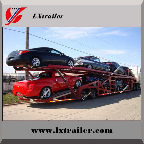 Shandong Best selling FUWA 2-3 axles car carrier semi truck trailers used carry 9-12 cars for Philippines