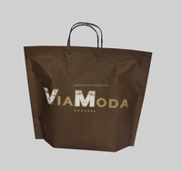 Hot sale new design shopping self sealing kraft paper bags for underwear with twisted handle