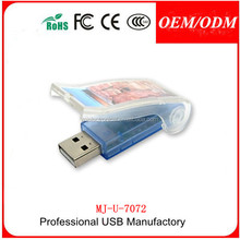 Free Sample , Plastic bottle opener shape flash drive usb