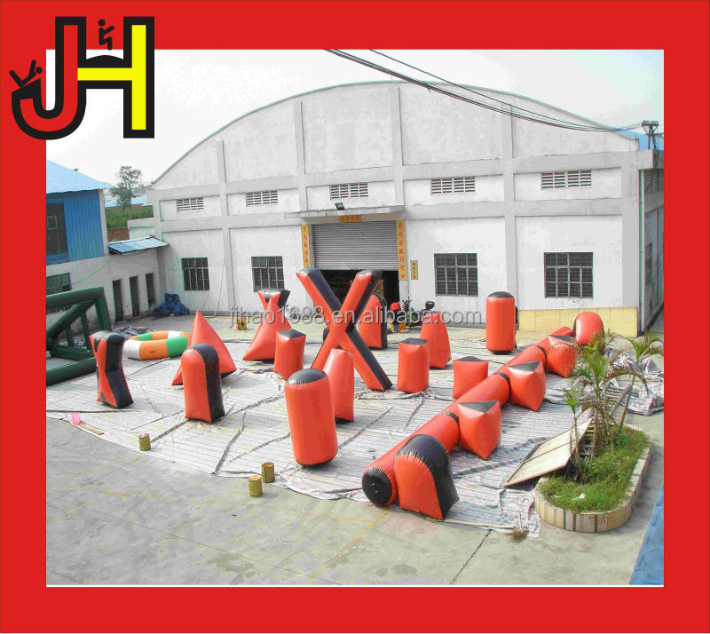 Hot Sale Outdoor 23pcs Air Seal Inflatable Paintball Bunker / Inflatable Paintball Game / Inflatable Paintball Filed