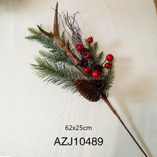 Artifical Christmas Pine Branches With Berry For Decoration