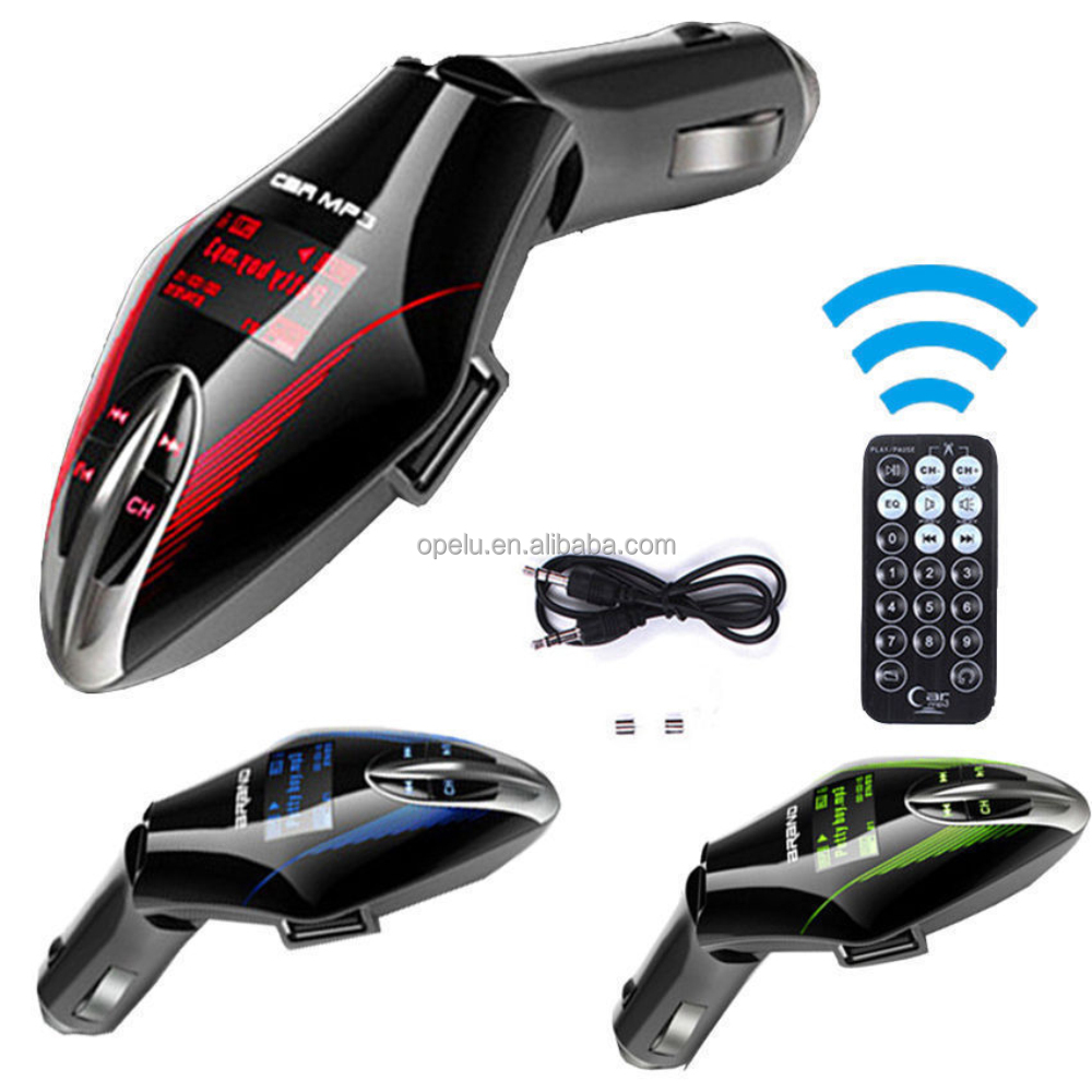 High Quality instructions car mp3 player fm transmitter usb With Remote