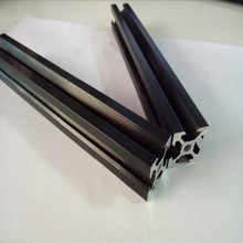 Black v slot aluminum profile 2020 V-slot industrial aluminium rail