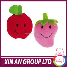 Strawberry Apple Squeaker Plush cushion Small toy