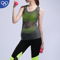 OEM factory womens gym wear skirt and crop top set plain gym tank tops