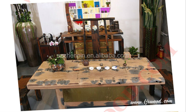 ancient boat wood furniture antique wood table