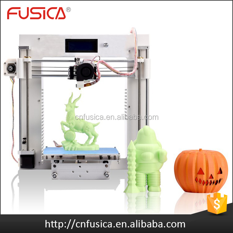 2016 High precision Mini portable lcd 3d printer with cura system DIY High Quality Printer 3d