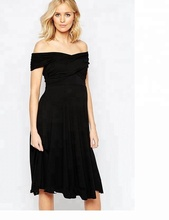 Wholesale OEM cheap high quality korean style maternity dress /black strapless maternity dresses
