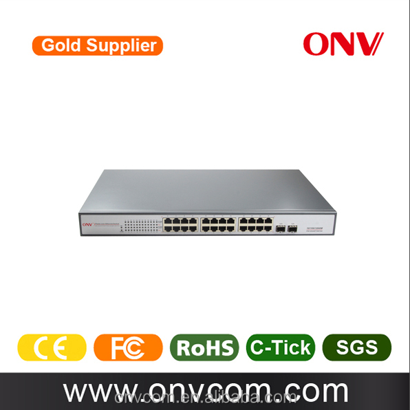 ONV 24-Port Gigabit PoE Switch, 24 POE ports, IEEE 802.3at/af