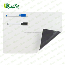 Whiteboard parts with eraser and marker for flexible magnetic whiteboard