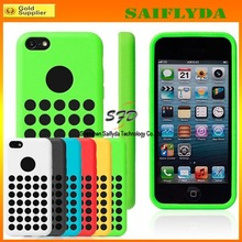 Fashionable style polka dot hole color case for iphone 5c silicone case factory price