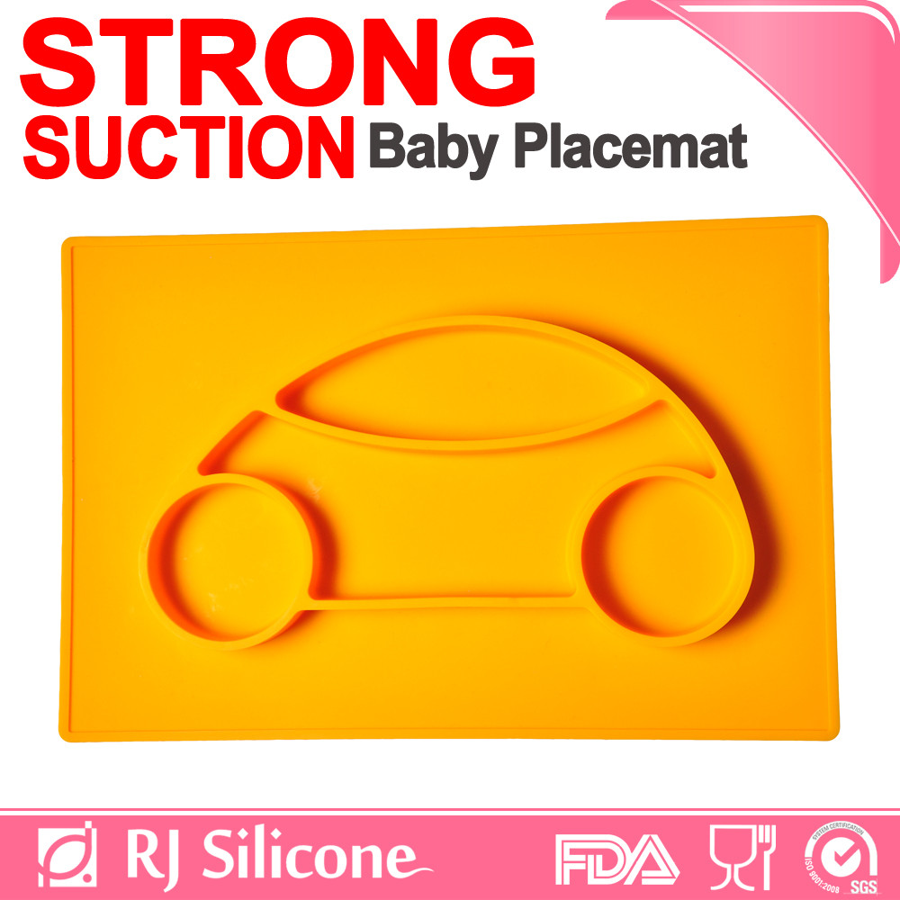 RJSILICONE portable silicone placemat for kids heat protection silicone placemat dish place mats