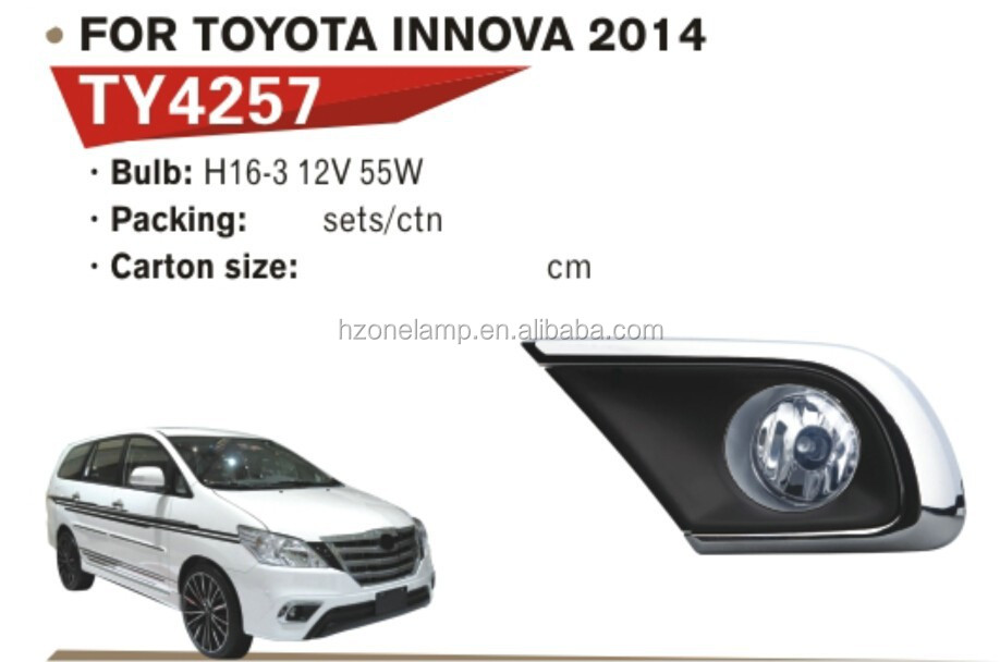 HOT SALE HZONE AUTO FOG LAMP FOR TOYOTA INNOVA 2014