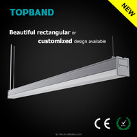 Topband CE RoHS direct luminaire linkable LED linear light 115lm/w 3years warranty with U-Type diffuser