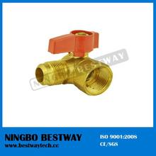 Brass 90 degree angle type gas ball valve