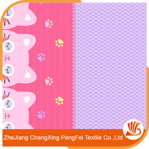 Fancy polyester customized Printed Bedspread Fabric