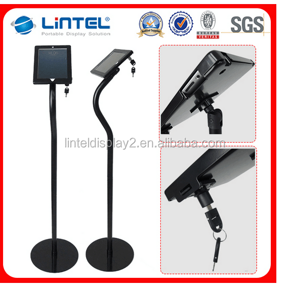 custom made tablet ipad floor stand for trade show