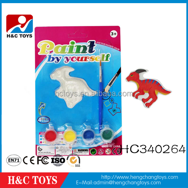 Wholesale kids painting ceramics dinosaur toys diy painting toy by yourself HC340264