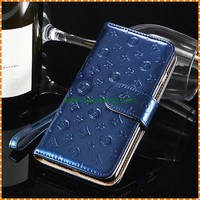Wholesale Genuine patent leather Embossed stand wallet case for iphone 7 plus