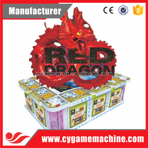 Popular Red Dragon Casino Fish Arcade Machine Supplier