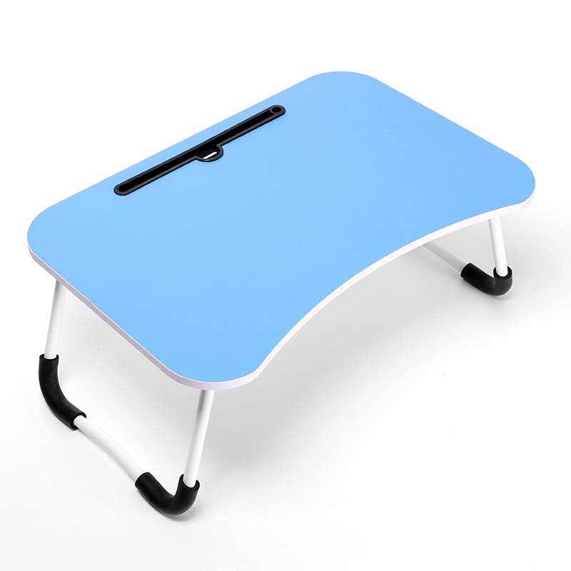 Portable MDF laptop table wood foldable computer desk on bed / wood laptop table on sofa or floor