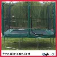 creative cheap gymnastic square bungee jumping trampoline with enclosure