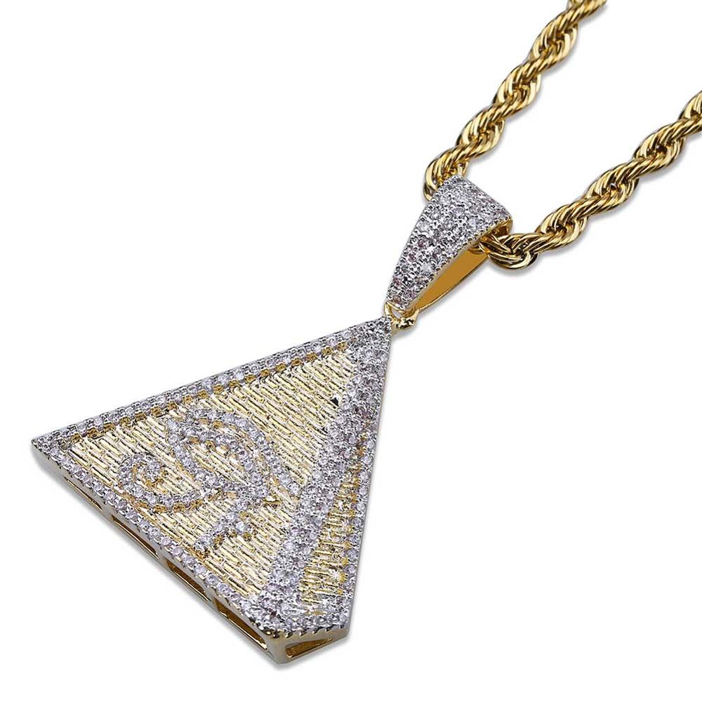 New <strong>Fashion</strong> The Eye Of Horus Design Gold Pendant Necklace Hip Hop Jewelry