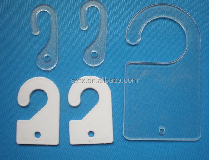 transprent small plastic hook for hang tags for bag accessories
