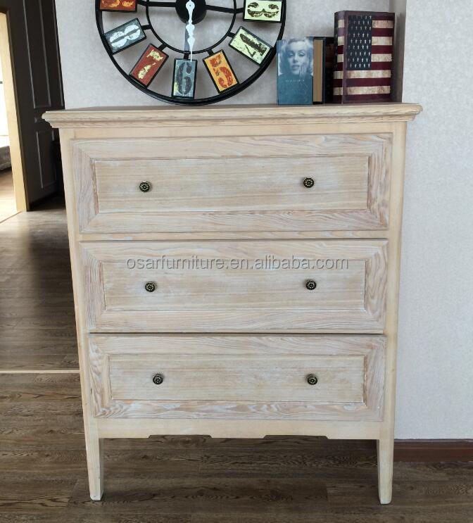 Living Room Cabinet Furniture Solid Oak Wood Antique Chest of Drawers