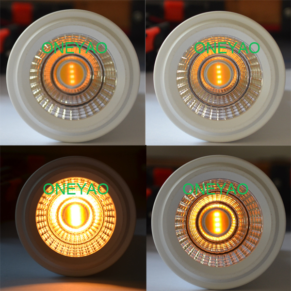 6W LED GU10 rang from 2000K to 2800K cct adjustable Dimmable LED GU10
