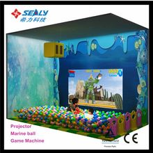 High Quality LLDPE Material Fun Center kids indoor game equipment with sea ball pool Projector interaction game Penguin X-ball
