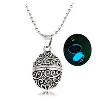 Top sale fashion glowing dark open locket faberge egg pendant
