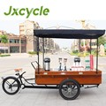 3 wheel electric retro coffee bike with roof