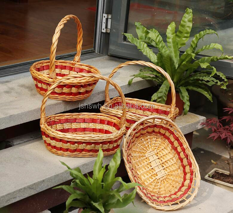 hot sale wicker basket for food holder/storage with handle