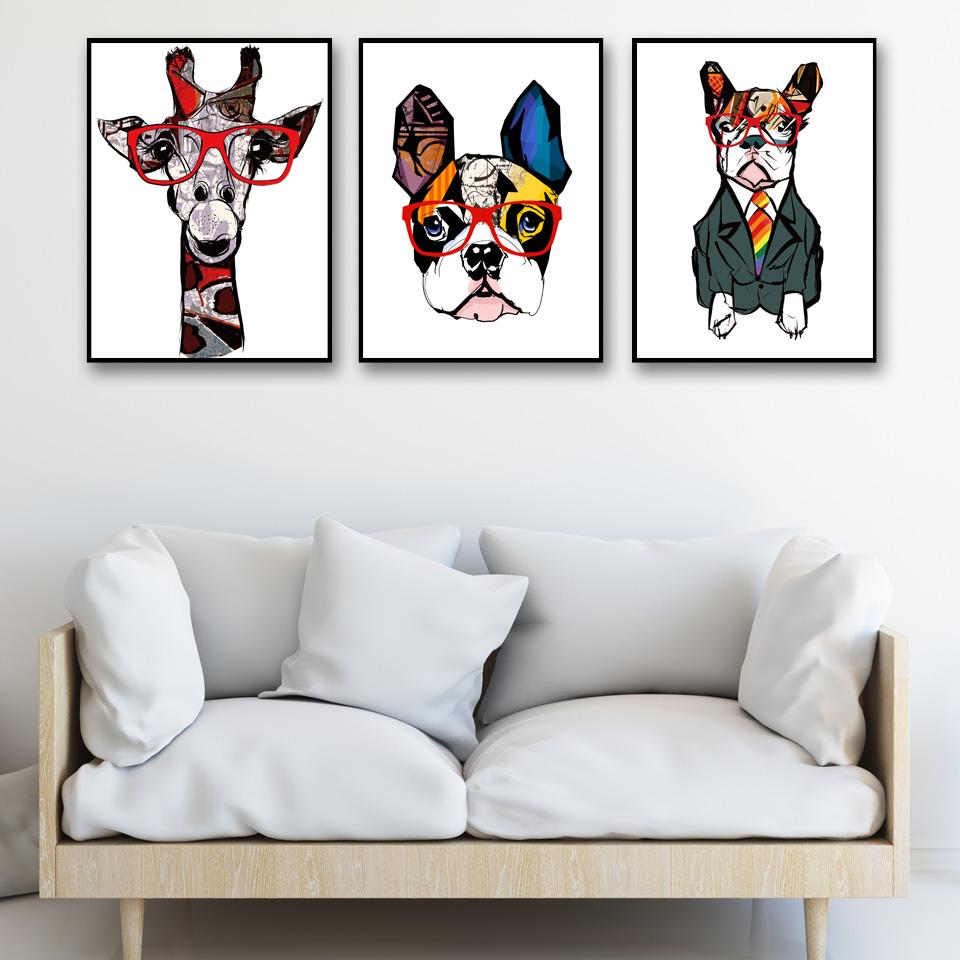 C Giraffe Art Print Home Decor Wall Art Poster