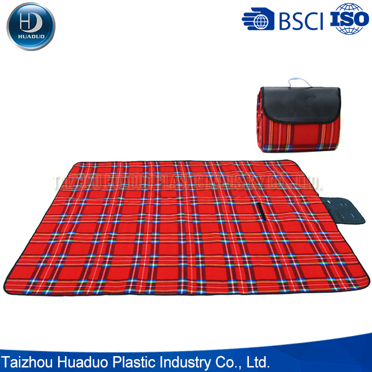 Eco-Friendly High Quality Material Black Picnic Blanket
